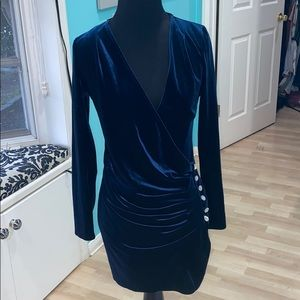 Velvet Navy bodycon Dress